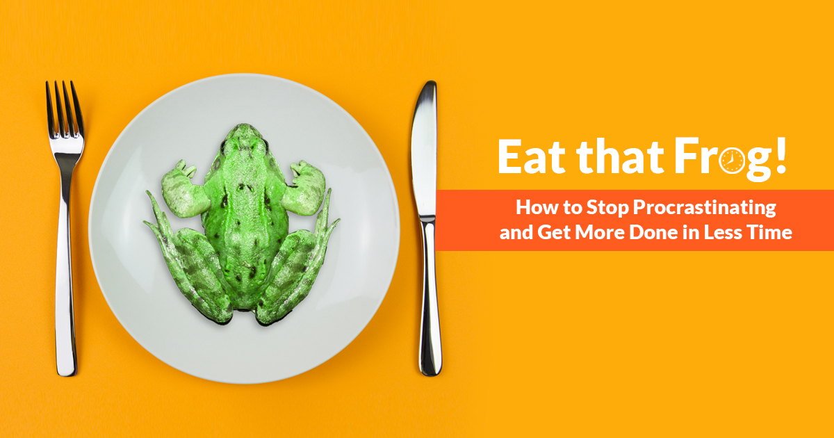 eat that frog Abebookscom: eat that frog: 21 great ways to stop procrastinating and get more done in less time (9781576754221) by brian tracy and a great selection of similar new, used and collectible books available now at great prices.