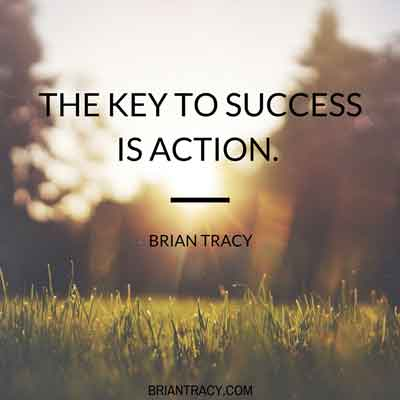 the-key-to-success-is-action